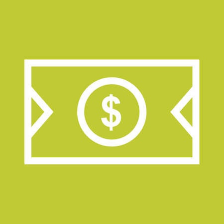 Dollar, bill, money, cash icon vector image. Can also be used for eCommerce, shopping, business. Suitable for use on web apps, mobile apps and print media. 일러스트