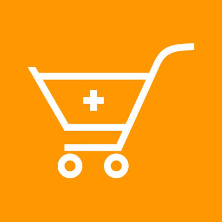Cart, trolley, basket icon vector image. Can also be used for eCommerce, shopping, business. Suitable for use on web apps, mobile apps and print media.
