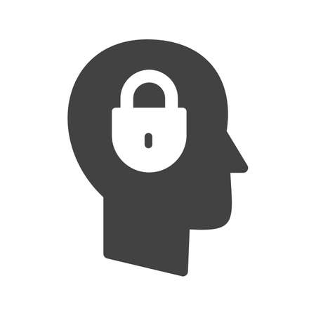 Security, computer, confidentiality icon vector image. Can also be used for IT Services. Suitable for use on web apps, mobile apps and print media. Vettoriali
