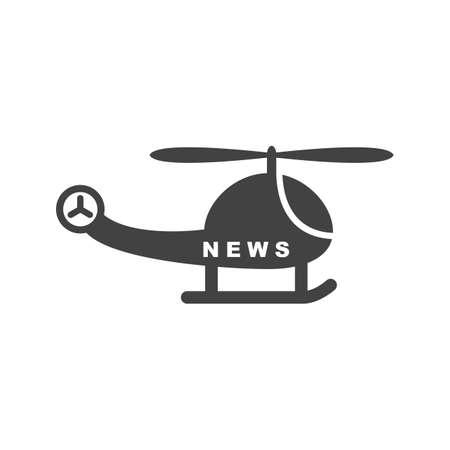 Nieuws, camera, helikopter pictogram vector afbeelding. Kan ook worden gebruikt voor nieuws en media. Geschikt voor mobiele apps, webapps en gedrukte media.