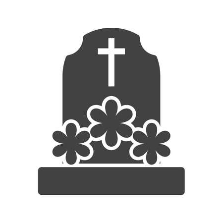 花が付いている墓。