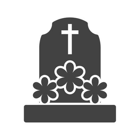 Grave with Flowers.