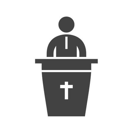 Speaking on Funeral. Ilustrace
