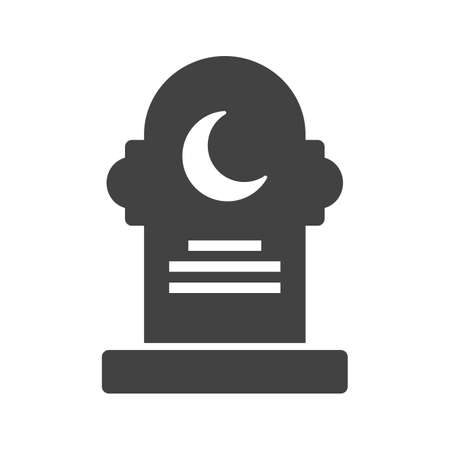 Grave, death, funeral icon vector image. Can also be used for funeral. Suitable for mobile apps, web apps and print media.