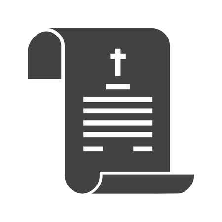 Morte, certificato, immagine vettoriale icona di carta. Può essere utilizzato anche per il funerale. Adatto per app mobili, app Web e supporti di stampa. Archivio Fotografico - 91010164