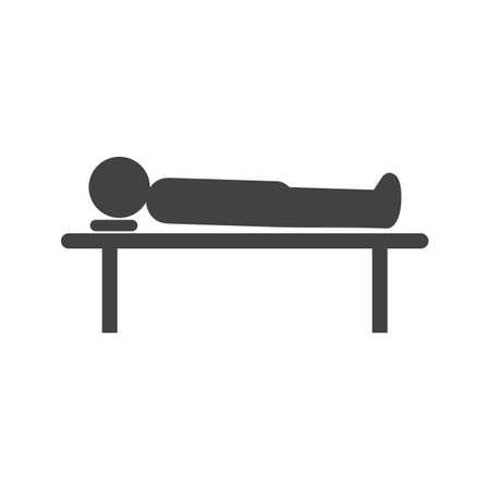 Body Lying on Table.