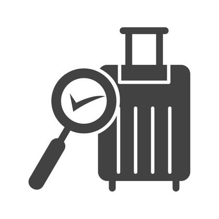 Find Luggage , baggage icon.