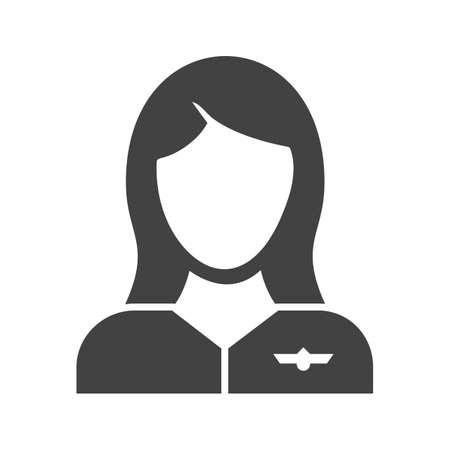 Flight Attendant, crew. Stock Illustratie