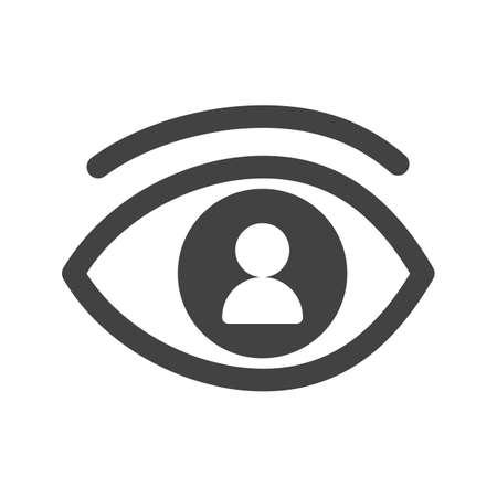 Indruk, persoon, vector afbeelding baanpictogram. Kan ook worden gebruikt voor soft skills. Geschikt voor mobiele apps, web-apps en gedrukte media. Vector Illustratie