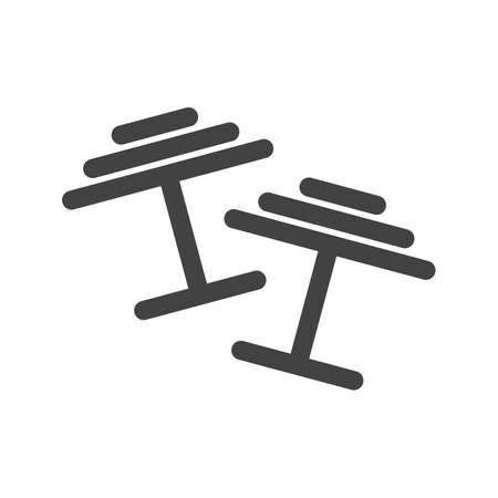 Cufflinks icon vector image.