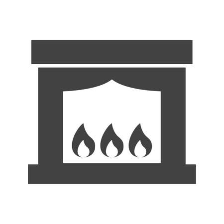 Electric fireplace icon vector image.
