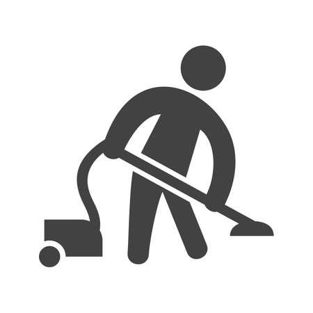 Man Doing Vacuum