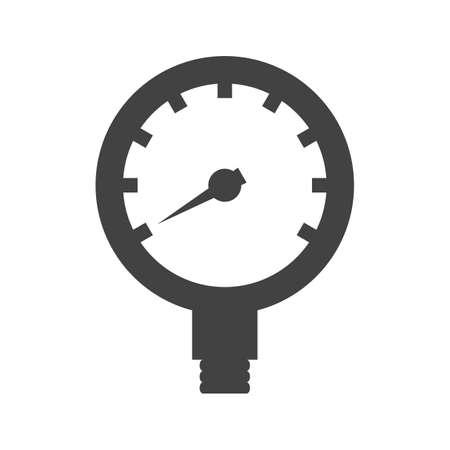 Óleo, gás, imagem vetorial ícone manómetro. Também pode ser usado para equipamentos climáticos. Adequado para aplicativos móveis, aplicativos da web e mídia impressa.
