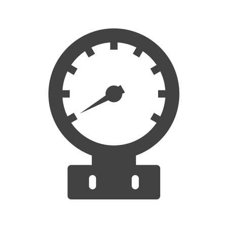 Pressione, manometro, immagine vettoriale icona del misuratore. Può essere utilizzato anche per le apparecchiature climatiche. Adatto per l'uso su app Web, app mobili e supporti di stampa.