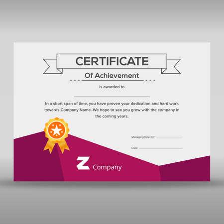 Multipurpose purple and white certificate Illustration
