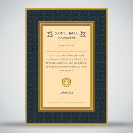 Professional gold and black certificate