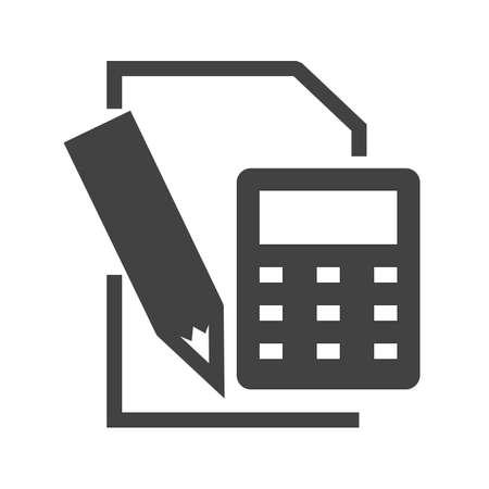 Icône de calculs sur fond blanc, illustration vectorielle. Vecteurs