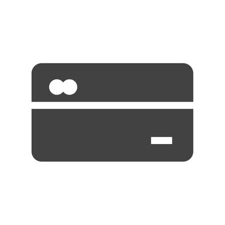 Credit cards icon on white background, vector illustration.
