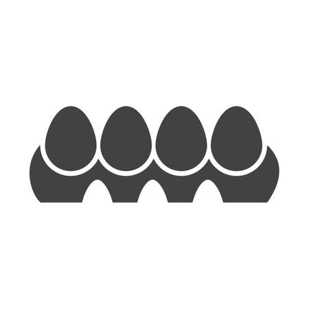Eggs, tray, hen icon  image. Can also be used for easter, celebration, observances and holidays. Suitable for mobile apps, web apps and print media. Illustration