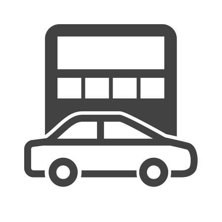 Car calculation concept symbol illustration.