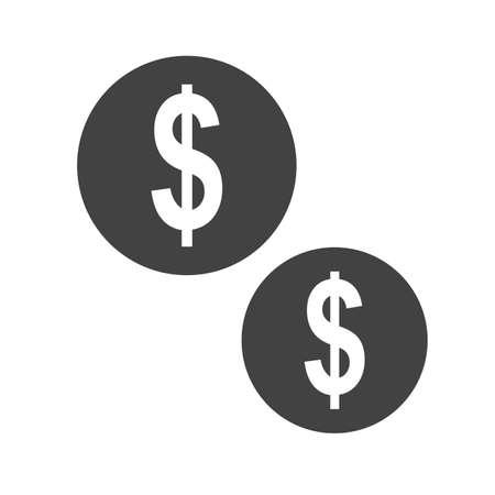 Dollar, money icon concept illustration. Иллюстрация