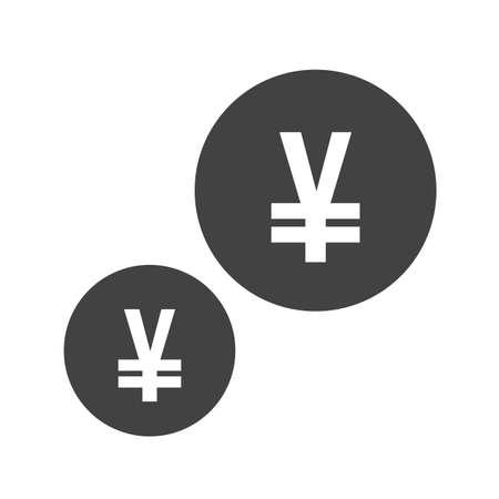 Yen, money icon concept illustration.