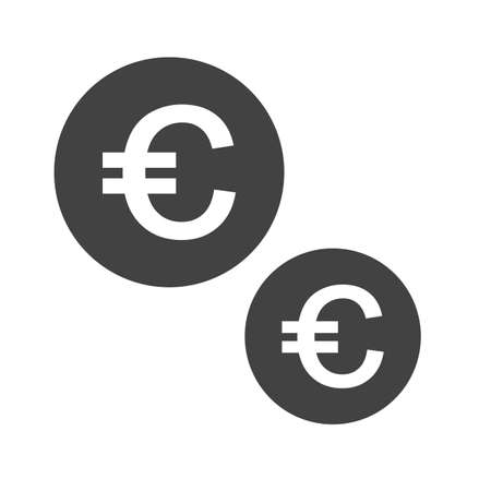 Euro, money icon concept illustration. Иллюстрация