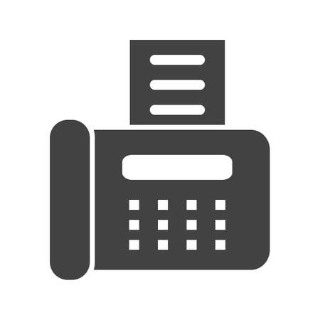 Fax Machine icon illustration.