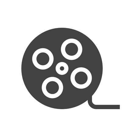 Film, reel, roll icon vector image. Can also be used for multimedia. Suitable for use on web apps, mobile apps and print media. Illustration