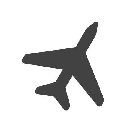 Plane, fly, aircraft icon vector image. Can also be used for summer, recreation and fun. Suitable for use on mobile apps, web apps and print media. Фото со стока - 91188363