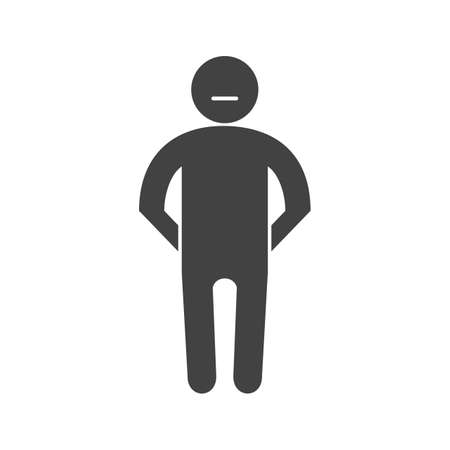 Stubborn, angry, rude icon vector image. Can also be used for Personality Traits. Suitable for web apps, mobile apps and print media. Stock Vector - 91244710