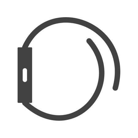 Left, side, view icon vector image. Can also be used for Smart Watch. Suitable for mobile apps, web apps and print media.