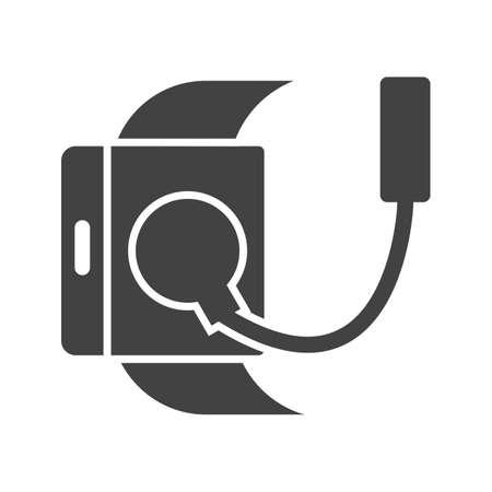 Lader, usb, kabel pictogram vector afbeelding. Kan ook worden gebruikt voor Smart Watch. Geschikt voor mobiele apps, web-apps en gedrukte media. Stockfoto - 91244926