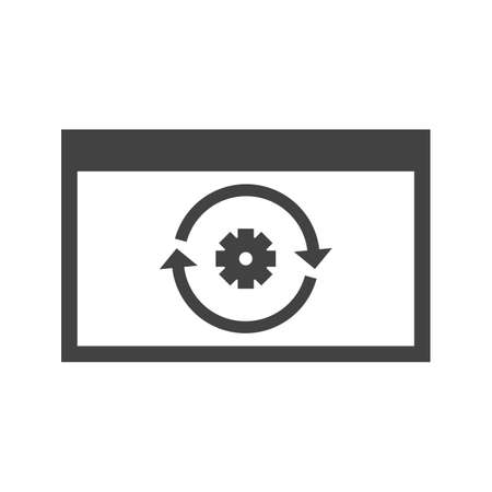 Engineering, business, reverse icon vector image. Can also be used for Data Analytics. Suitable for mobile apps, web apps and print media. Illustration