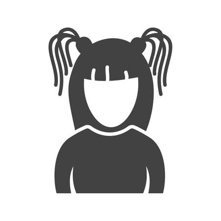 Gothic, girl, young icon vector image. Can also be used for Avatars. Suitable for use on web apps, mobile apps and print media.