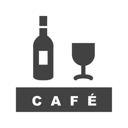 Coffee or wine  cafe, drink icon vector image. Can also be used for Cafe and Bar. Suitable for use on web apps, mobile apps and print media. Stock Illustratie