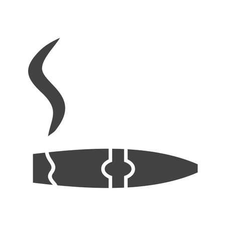 Cigar, smoke, lit icon vector image. Can also be used for Cafe and Bar. Suitable for use on web apps, mobile apps and print media