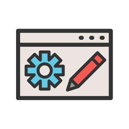 Blog, website, bloggen pictogram vector afbeelding. Kan ook worden gebruikt voor IT-services. Geschikt voor gebruik op web-apps, mobiele apps en gedrukte media. Stock Illustratie