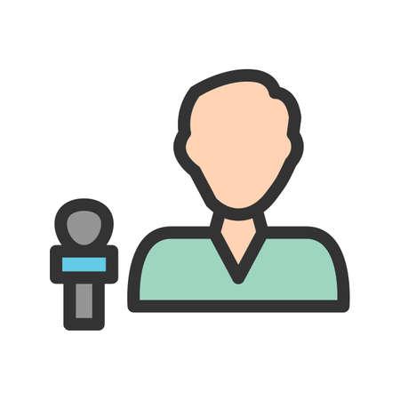 Male anchor icon vector image. Ilustração
