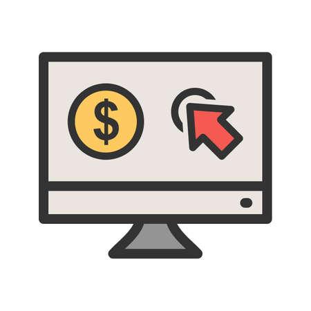 Pay Per Click Vector illustration.