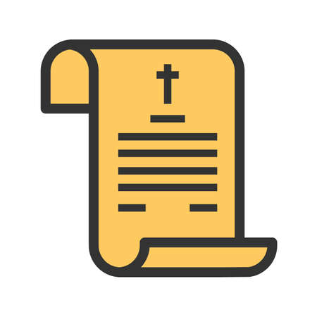 Death, certificate, paper icon vector image.Can also be used for funeral. Suitable for mobile apps, web apps and print media.