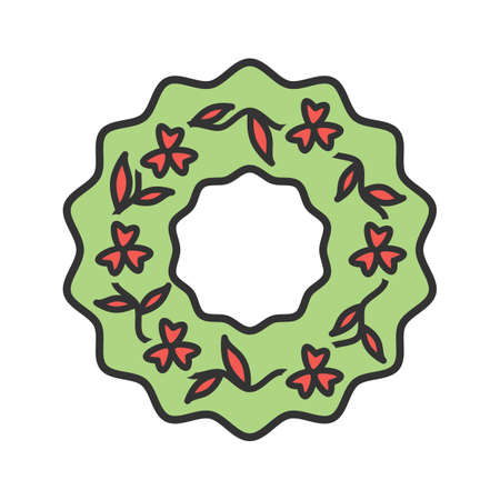 Funeral, wreath, flowers icon vector image.Can also be used for funeral. Suitable for mobile apps, web apps and print media. Illustration