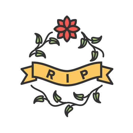 Peace, rest, tombstone icon vector image. Can also be used for funeral. Suitable for mobile apps, web apps and print media. Stok Fotoğraf - 91510094