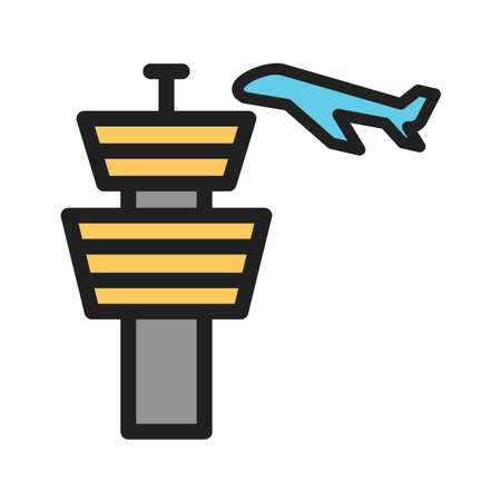 Air Control Tower Vector illustration. Illustration