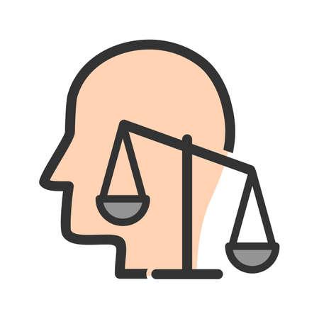 Principes, intégrité, éthique image vectorielle icône. Peut aussi être utilisé pour les compétences non techniques. Convient pour les applications mobiles, les applications Web et les supports d'impression.