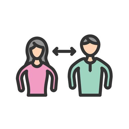 Interpersonal, facilitator, relationship icon vector image. Can also be used for soft skills. Suitable for mobile apps, web apps and print media.