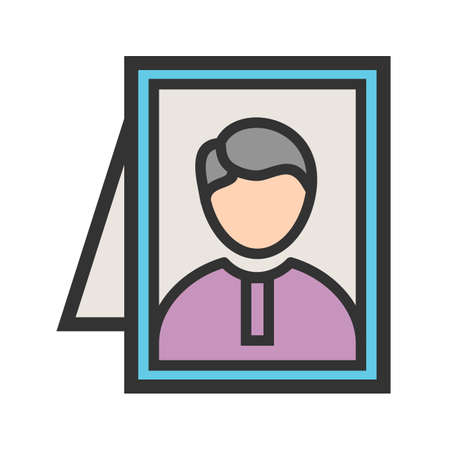Frame, picture, relative icon vector image. Can also be used for funeral. Suitable for mobile apps, web apps and print media. Ilustrace