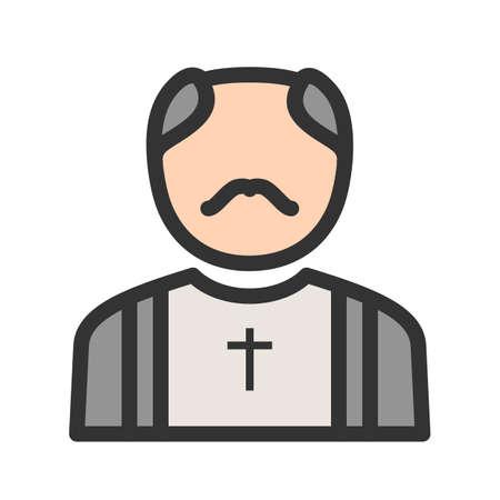 Priest, catholic, church icon image.