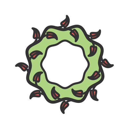 Wreath flowers for funeral Vector illustration. Illustration
