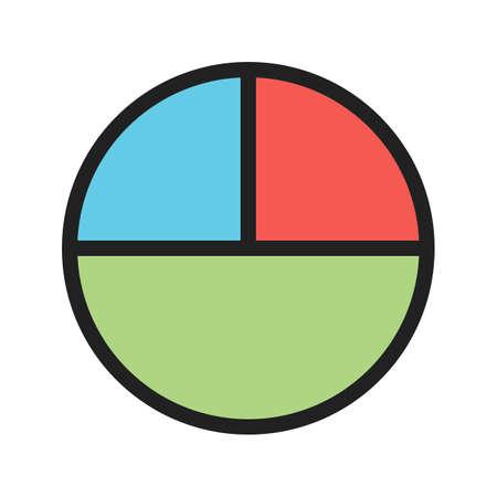 Círculo, matemática, imagem de vetor de ícone de geometria. Também pode ser usado para símbolos matemáticos. Adequado para aplicativos móveis, aplicativos da web e mídia impressa. Ilustración de vector